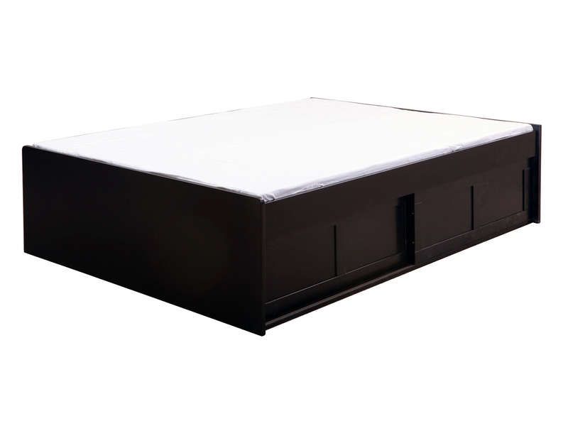 lit adulte 140x190 cm belem coloris noir vente de lit adulte conforama. Black Bedroom Furniture Sets. Home Design Ideas