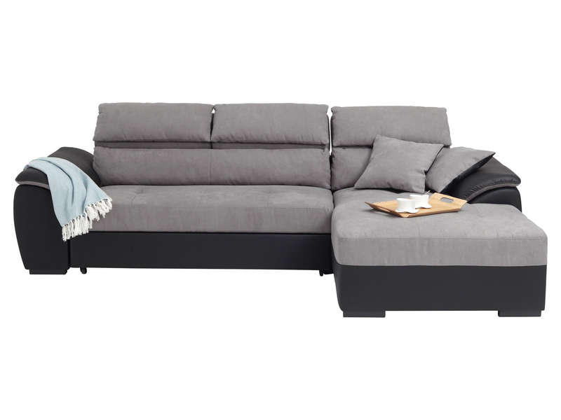 Canap d 39 angle convertible droit 4 places for Canape d angle convertible couchage quotidien