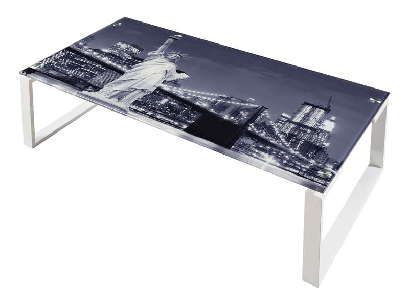 Table verre new york conforama - Conforama bureau en verre ...