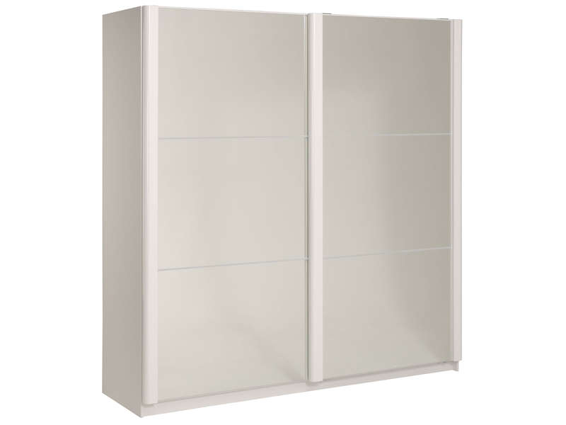armoire 2 portes coulissantes westley coloris blanc. Black Bedroom Furniture Sets. Home Design Ideas