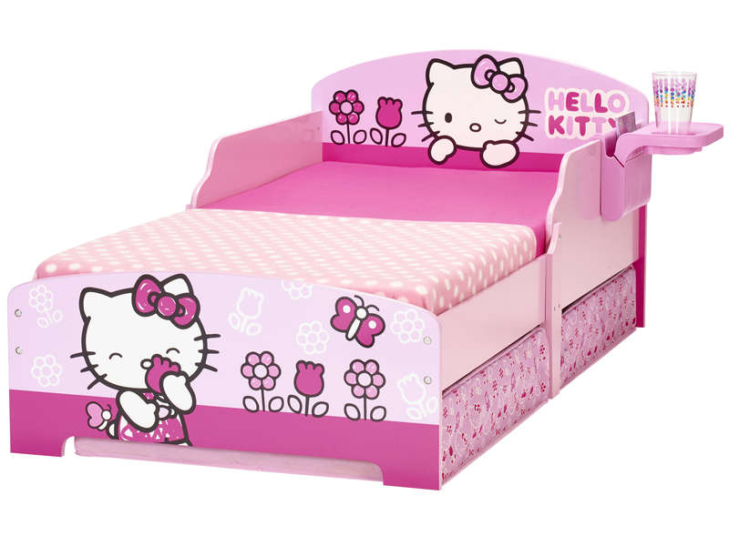 lit enfant 70x140 cm hello kitty vente de lit b b conforama. Black Bedroom Furniture Sets. Home Design Ideas