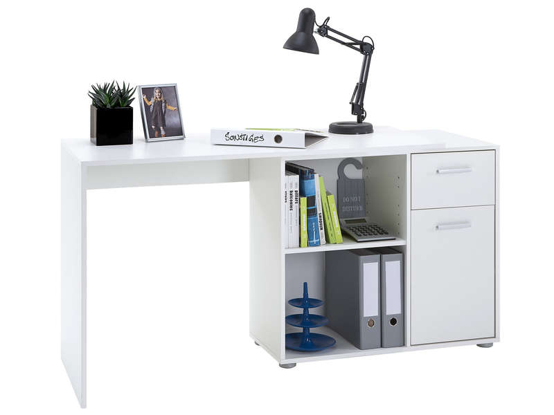 bureau albrecht coloris blanc vente de bureau conforama. Black Bedroom Furniture Sets. Home Design Ideas