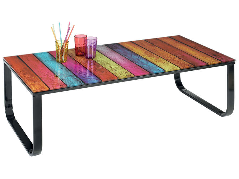 Table basse santiago vente de table basse conforama - Table de salon conforama en verre ...