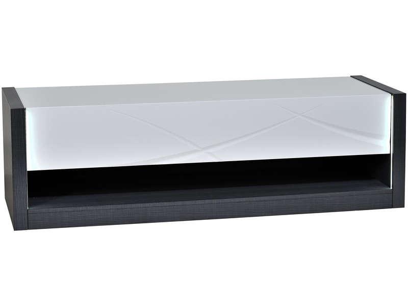 Banc TV 150 cm finition laqué ELYPSE coloris blanc