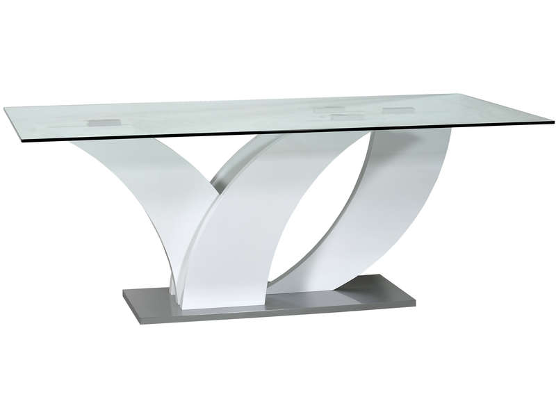 Table Rectangulaire 200 Cm Elypse Coloris Blanc Esche Prato Vente