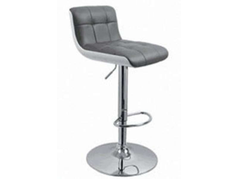 Tabouret de bar wharf coloris gris vente de chaise de for Conforama chaises de cuisine