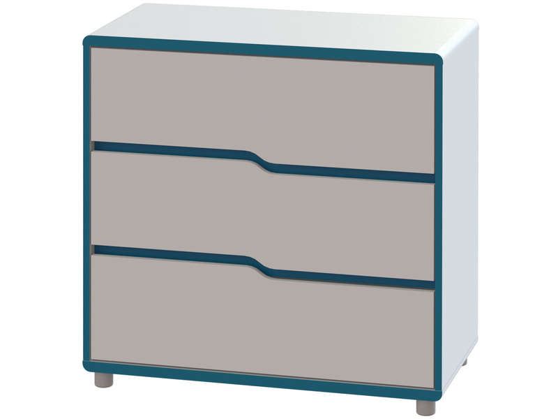 commode moby coloris blanc et bleu vente de commode. Black Bedroom Furniture Sets. Home Design Ideas