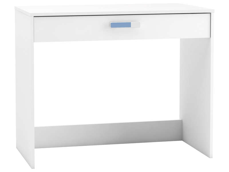 Bureau 1 tiroir switch coloris blanc vente de bureau for Petit bureau simple