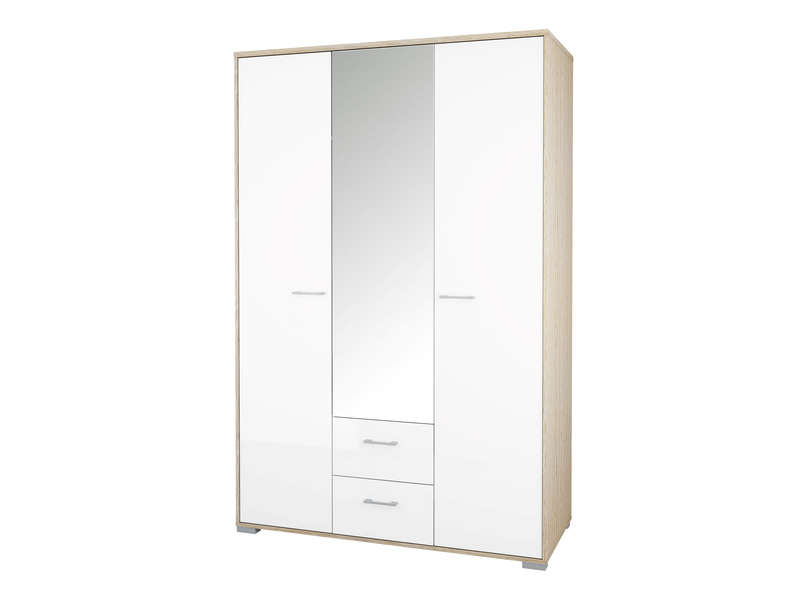 armoire homeline coloris ch ne sonoma et blanc vente de. Black Bedroom Furniture Sets. Home Design Ideas