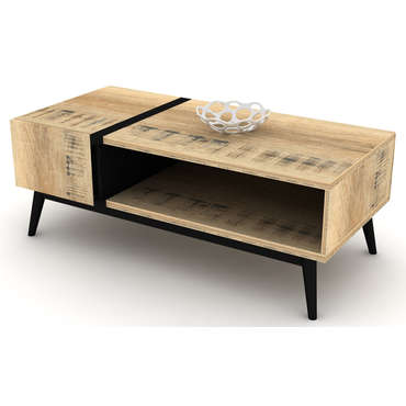 table basse ethnica coloris gris noir vente de table basse conforama. Black Bedroom Furniture Sets. Home Design Ideas