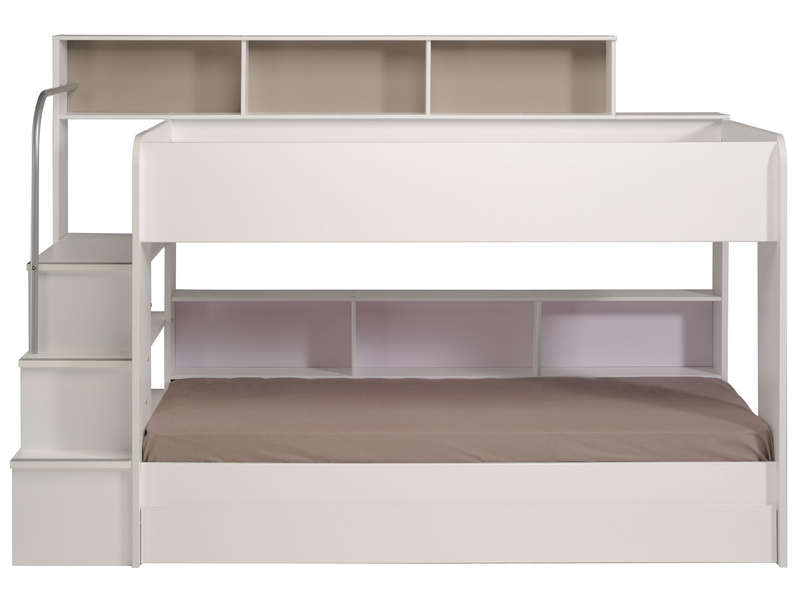 lit superpos 90x200 cm blanc bibop coloris blanc vente de lit enfant conforama. Black Bedroom Furniture Sets. Home Design Ideas