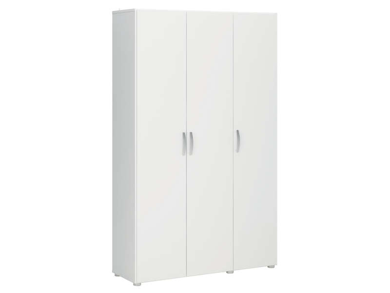 armoire de service 3 portes cobi coloris blanc vente de armoire conforama. Black Bedroom Furniture Sets. Home Design Ideas