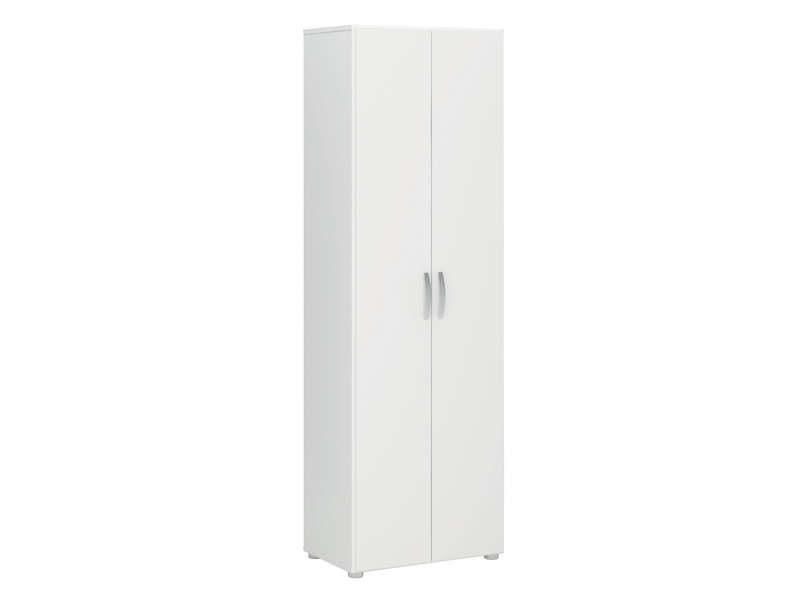 armoire 2 portes cobi coloris blanc vente de armoire conforama. Black Bedroom Furniture Sets. Home Design Ideas
