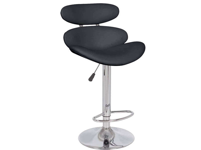 tabouret de bar santa fe coloris noir chez conforama. Black Bedroom Furniture Sets. Home Design Ideas