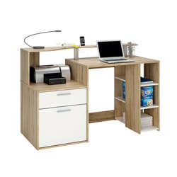 Bureau 1 porte + 1 tiroir + 3 niches