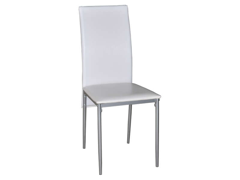 Chaise chloe coloris blanc vente de chaise conforama for Chaise blanche cuisine