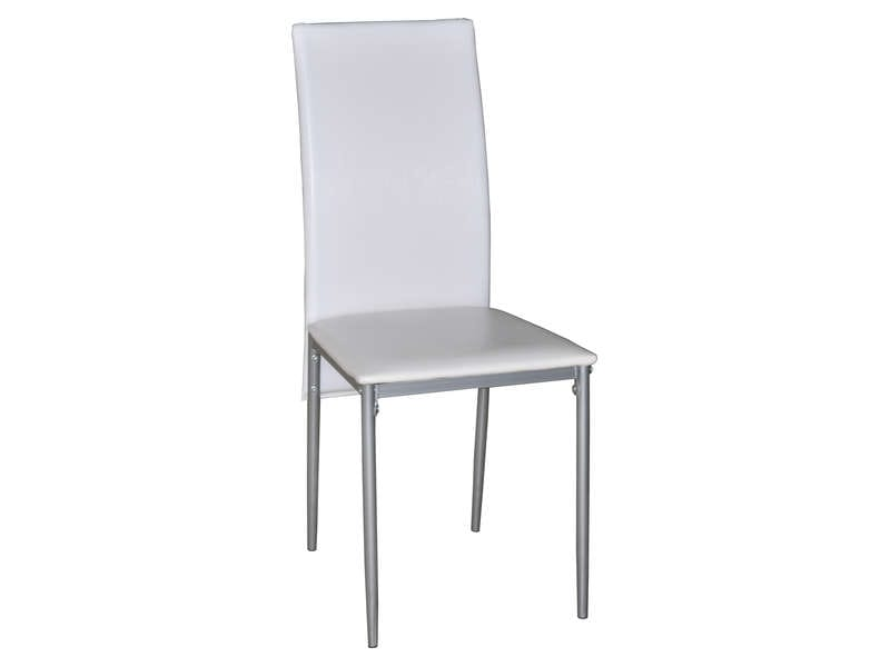 Chaise chloe coloris blanc vente de chaise conforama for Conforama chaises de cuisine