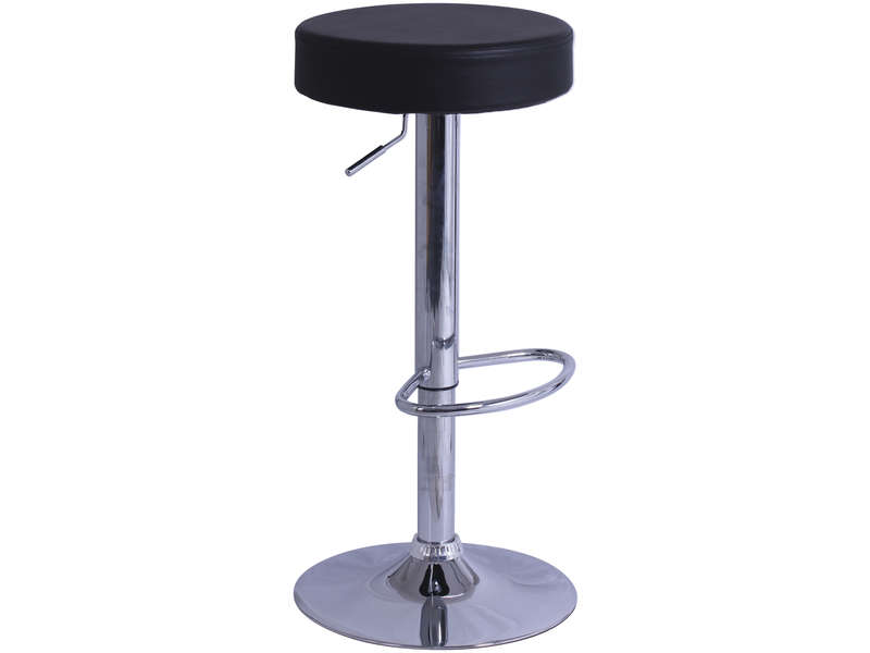 tabouret de bar de cuisine rump coloris noir vente de. Black Bedroom Furniture Sets. Home Design Ideas