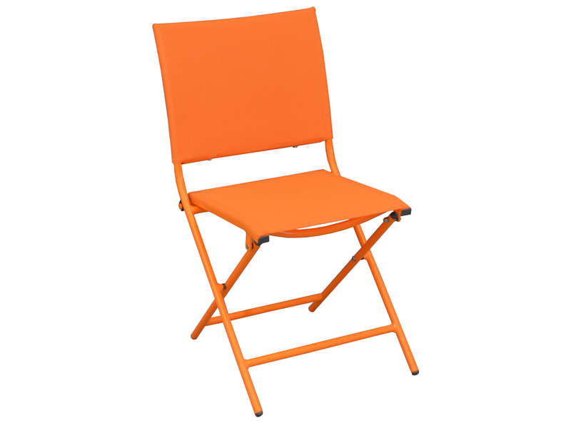 Chaise de jardin pliante en nylon GLOBE coloris orange