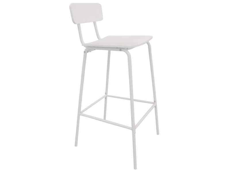 Tabouret de bar mika coloris blanc vente de chaise de for Conforama chaises de cuisine