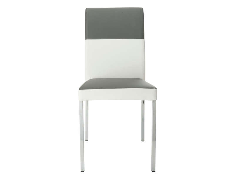 Chaise empilable milo coloris gris blanc vente de chaise for Conforama chaise