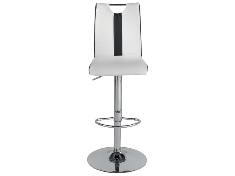 tabouret de bar v8 coloris blanc noir chez conforama. Black Bedroom Furniture Sets. Home Design Ideas