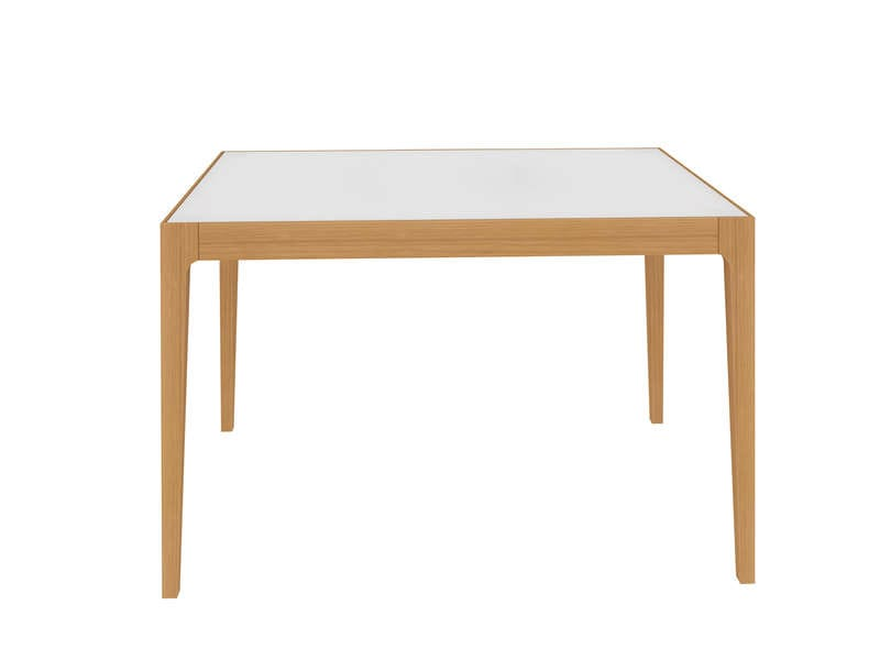 Table de cuisine pliable leane blanc et gris for Table cuisine pliable