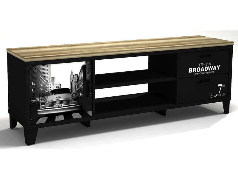 meuble tv prevnext - Ensemble Table Basse Meuble Tv Bois