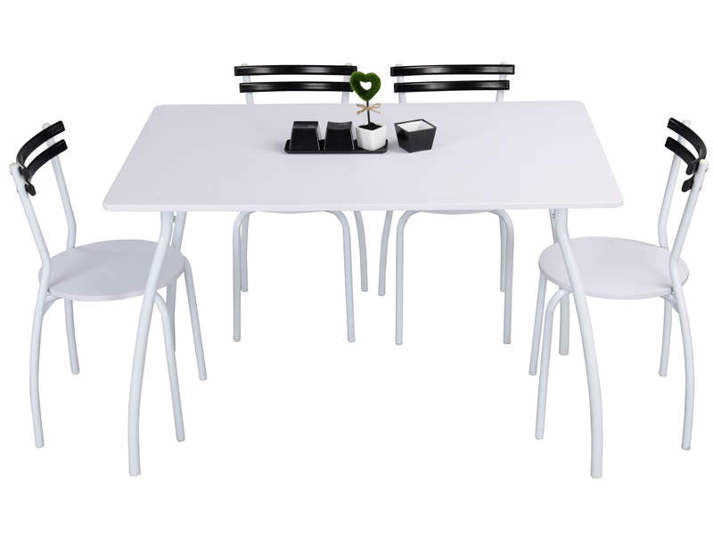 Ensemble table 4 chaises sun vente de ensemble table for Ensemble de cuisine blanc