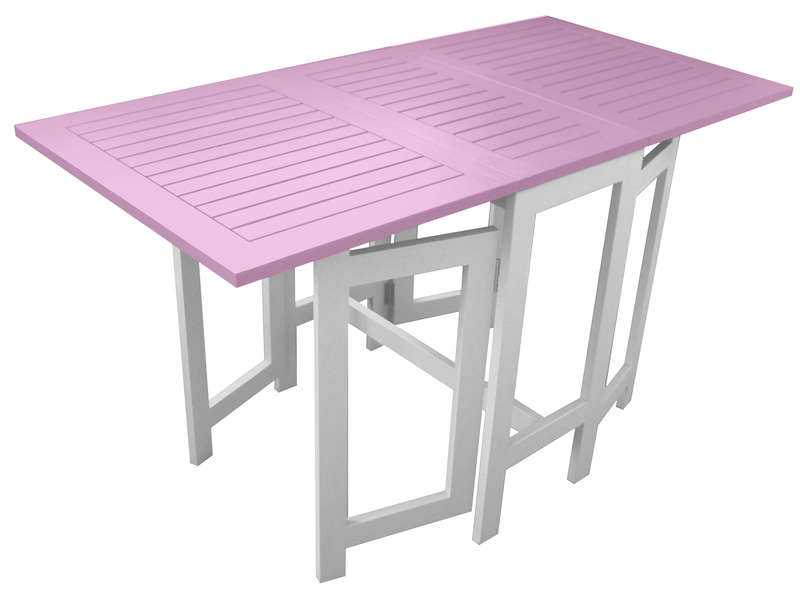 Table de jardin 130 cm pliante for Table de jardin conforama