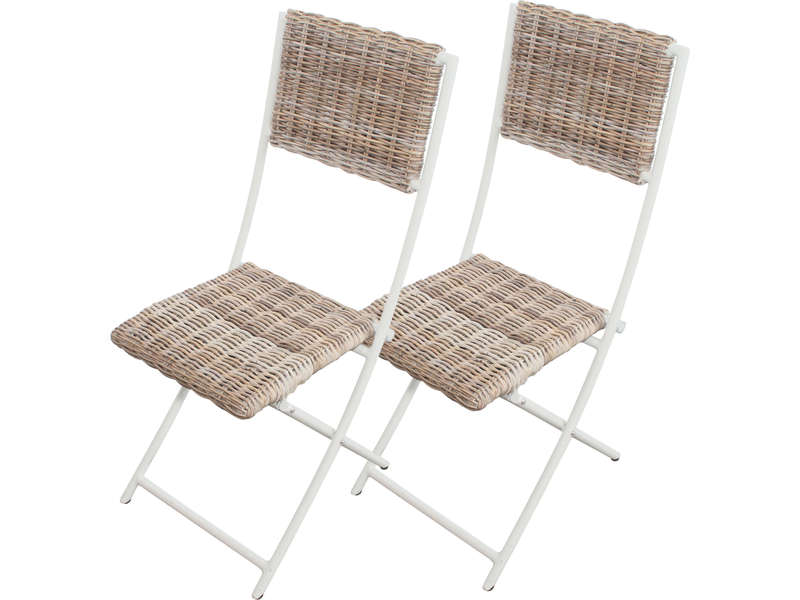 lot de 2 chaises pliantes de jardin borneo coloris gris vente de 40 de remise conforama. Black Bedroom Furniture Sets. Home Design Ideas
