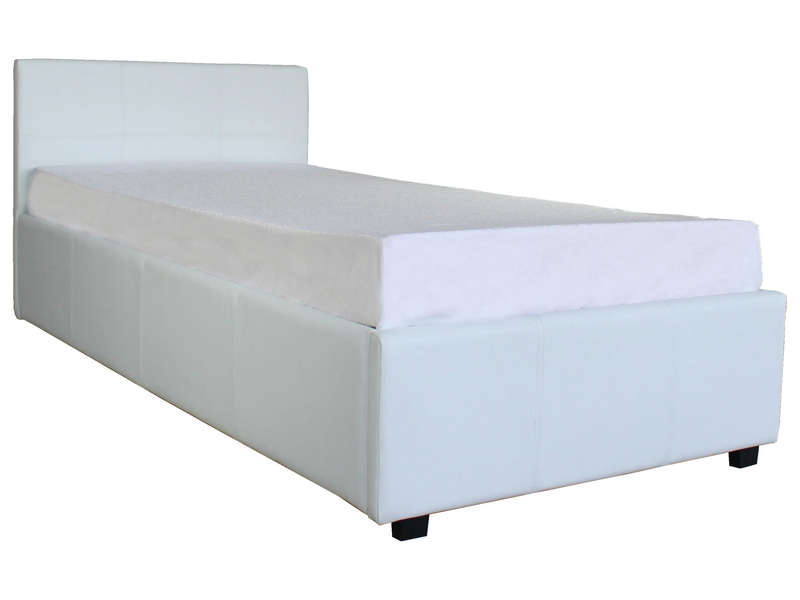 lit coffre 90x190 cm michigan coloris blanc vente de lit. Black Bedroom Furniture Sets. Home Design Ideas