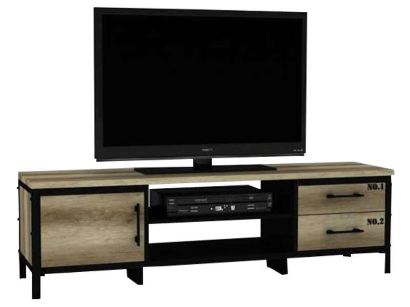 meuble tv arty chez conforama. Black Bedroom Furniture Sets. Home Design Ideas