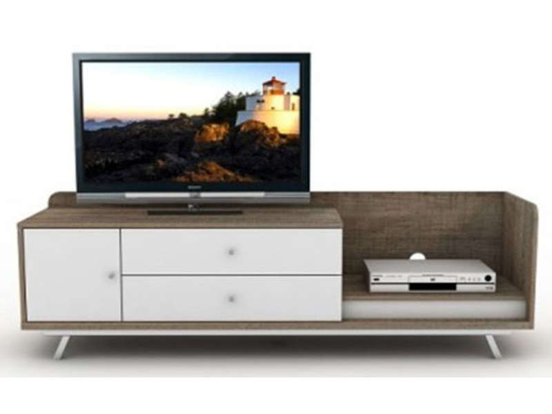 meuble tv d 39 angle en bois brut. Black Bedroom Furniture Sets. Home Design Ideas
