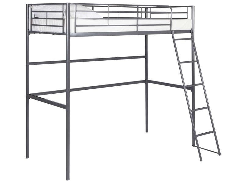 lit mezzanine 90x190 cm new line coloris gris vente de. Black Bedroom Furniture Sets. Home Design Ideas