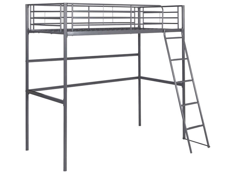 lit mezzanine 90x190 cm new line coloris gris vente de lit enfant conforama. Black Bedroom Furniture Sets. Home Design Ideas