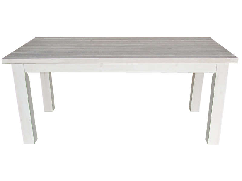 Table rectangulaire avec allonge 230 cm max saraya en pin massif blanchi vente de table de - Table rectangulaire avec allonge ...