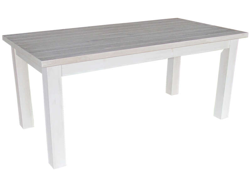 Table rectangulaire avec allonge 230 cm max saraya en pin for Table cuisine en pin