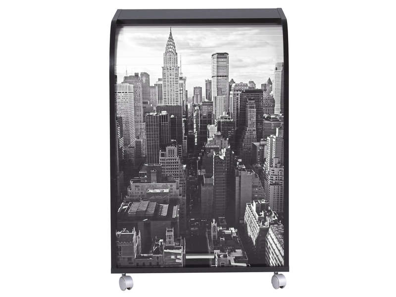 Meuble informatique itop new york coloris noir for Meuble bureau new york
