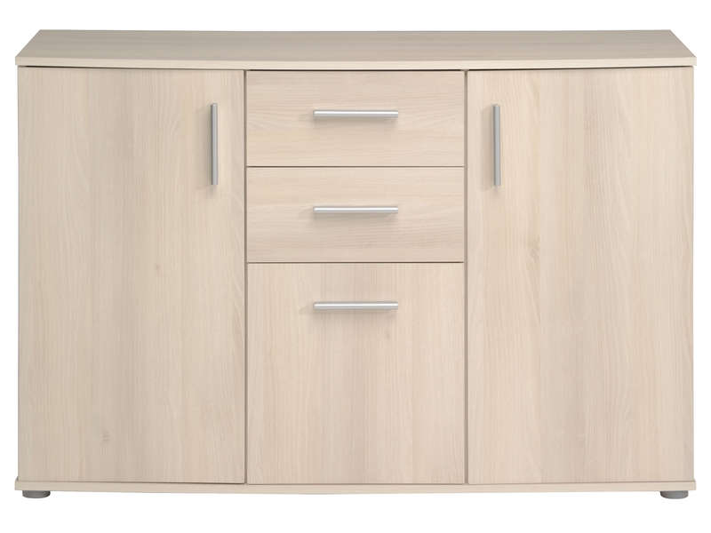 Commode 3 portes 2 tiroirs for Meuble 2 porte conforama