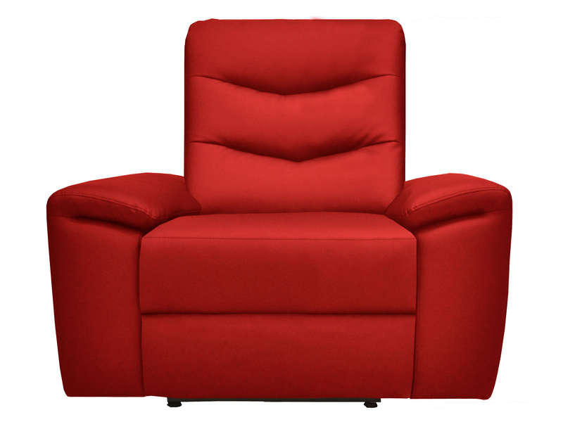 fauteuil relaxation foster coloris rouge en pu vente de tous les fauteuils conforama. Black Bedroom Furniture Sets. Home Design Ideas