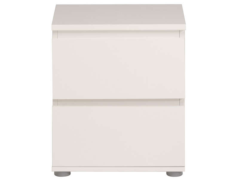 Chevet 2 tiroirs neo coloris blanc vente de chevet adulte conforama - Table de chevet blanche ikea ...