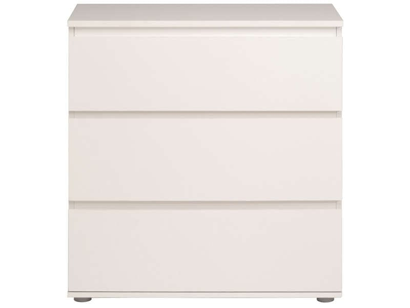 Commode 3 Tiroirs Neo Coloris Blanc Vente De Commode
