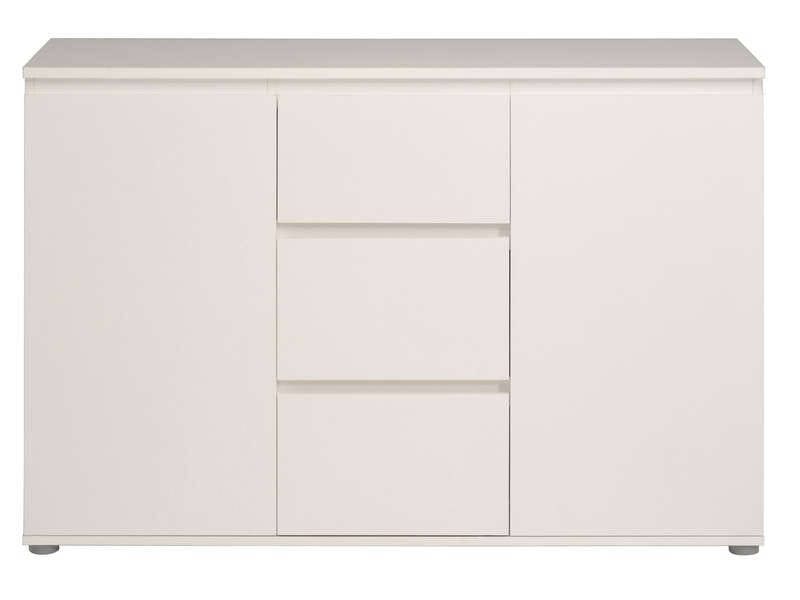 enfilade 2 portes 3 tiroirs neo coloris blanc vente de buffet bahut vaisselier conforama. Black Bedroom Furniture Sets. Home Design Ideas