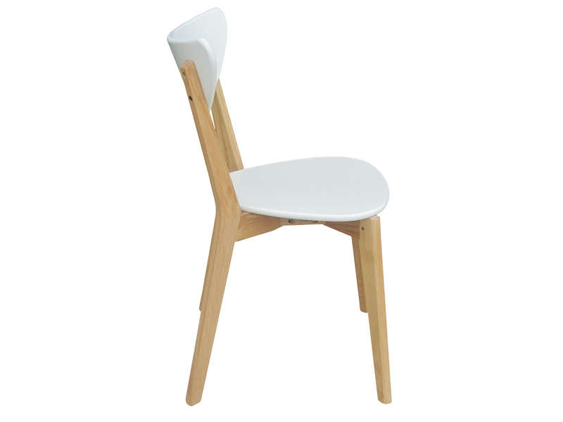 Chaise skine coloris blanc vente de chaise conforama for Chaises de cuisine conforama