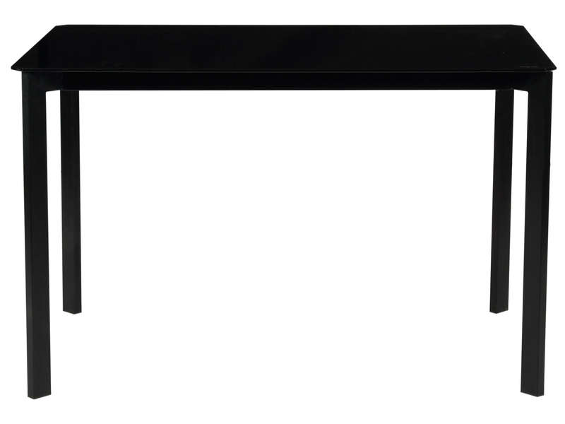 Table 120 cm ROMY coloris noir - Vente de Table de cuisine - Conforama