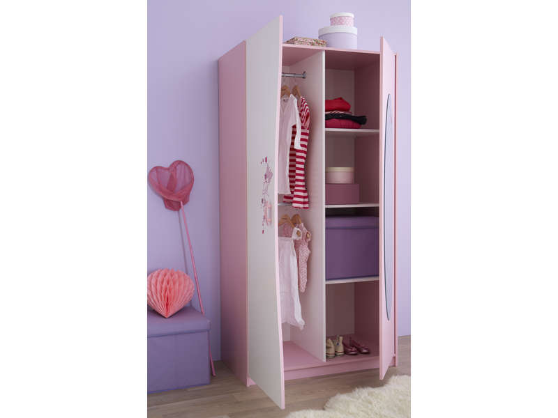 armoire enfant papillon vente de armoire enfant conforama. Black Bedroom Furniture Sets. Home Design Ideas