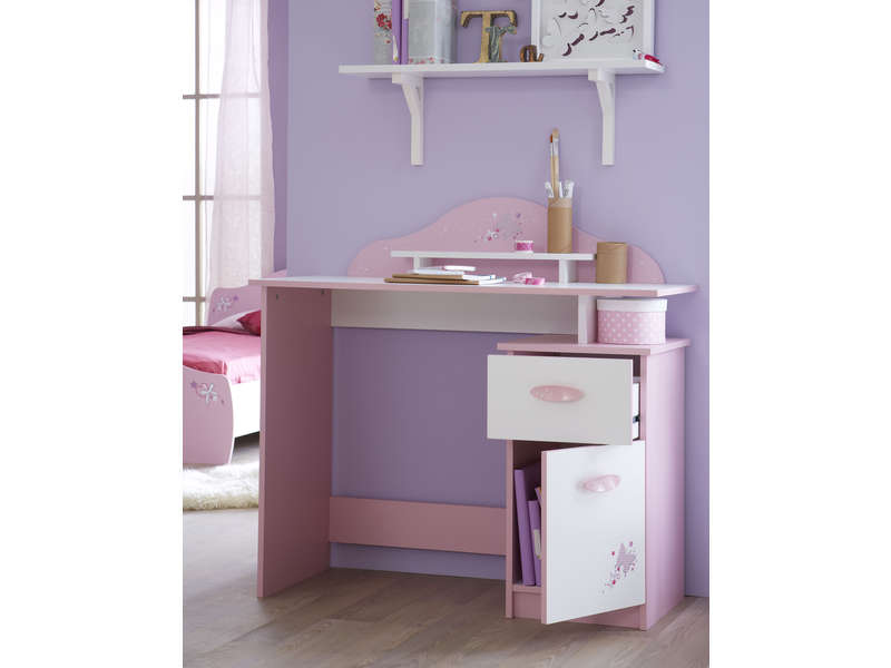 bureau enfant papillon vente de bureau conforama. Black Bedroom Furniture Sets. Home Design Ideas