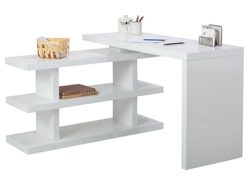 bureau volta 2 coloris blanc vente de bureau conforama. Black Bedroom Furniture Sets. Home Design Ideas