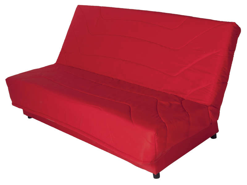 banquette clic clac en tissu eva coloris rouge vente de. Black Bedroom Furniture Sets. Home Design Ideas
